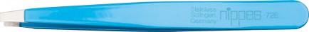 Nippes Pinceta z ravno konico, nerjaveče jeklo, modra 9,5cm 728