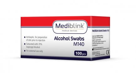 Mediblink Alkoholni robčki M140 100x