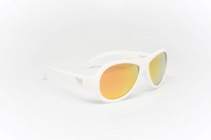 Babiators Otroška sončna očala Polarized Classic Wicked White/Orange lenses 3-7 let BAB-052