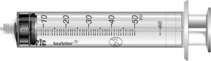 PiC Brizge Luer Lock brez igle 50mL 50X