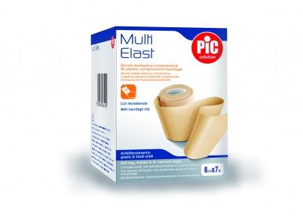 PiC Dvosmerni kompresijski povoj MultiElast 12cmX7m