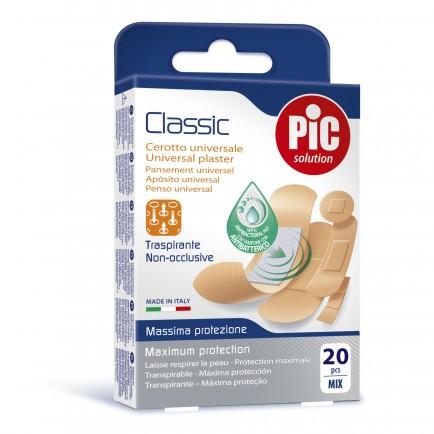 PiC Antibakterijski obliž Classic Mix 20X