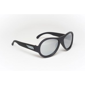 Babiators Otropka sončna očala Ace Aviator Black ops black/Mirrored lenses 7-14 let ACE-001