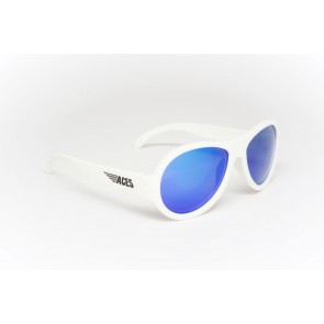 Babiators Otroška sončna očala Ace Aviator Wicked white/Blue lenses 7-14 let ACE-003