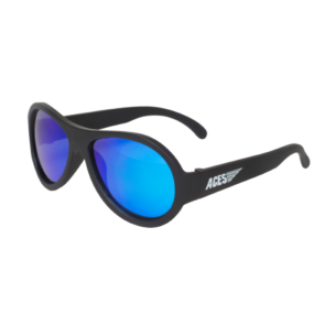 Babiators Otroška sončna očala Polarized Junior Black ops black/Blue lenses 0-2 let BAB-049