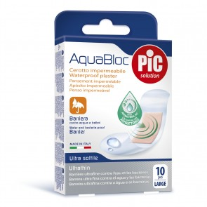 PiC antibakterijski obliž Aquabloc L 10X