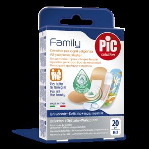 PiC Antibakterijski obliž Family Mix 20X