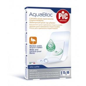 PiC Antibakterijski pooperativni obliž Aquabloc 15X10cm 5X