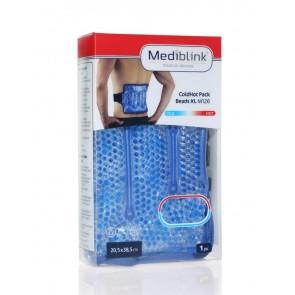 Mediblink Hladilno-toplotna blazinica s kroglicami s pasom, XL 20,5X38,5cm M126
