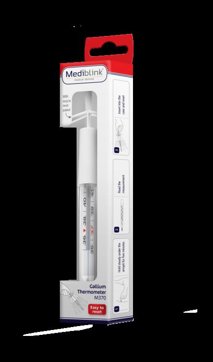 Mediblink Galijev termometer s patentom za lažje zbijanje M370