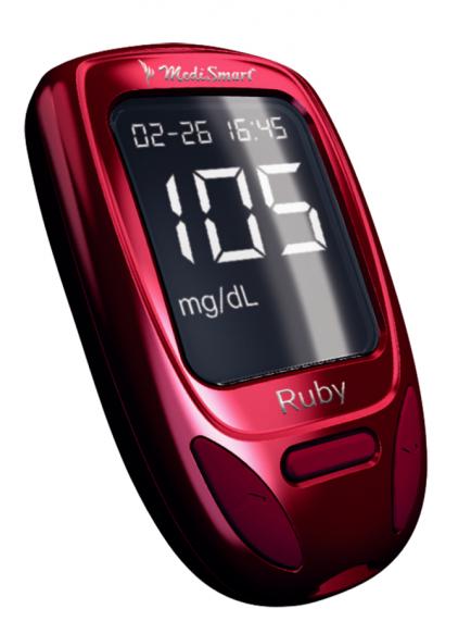 Medismart Merilnik sladkorja v krvi Ruby